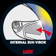 Visor solar interno